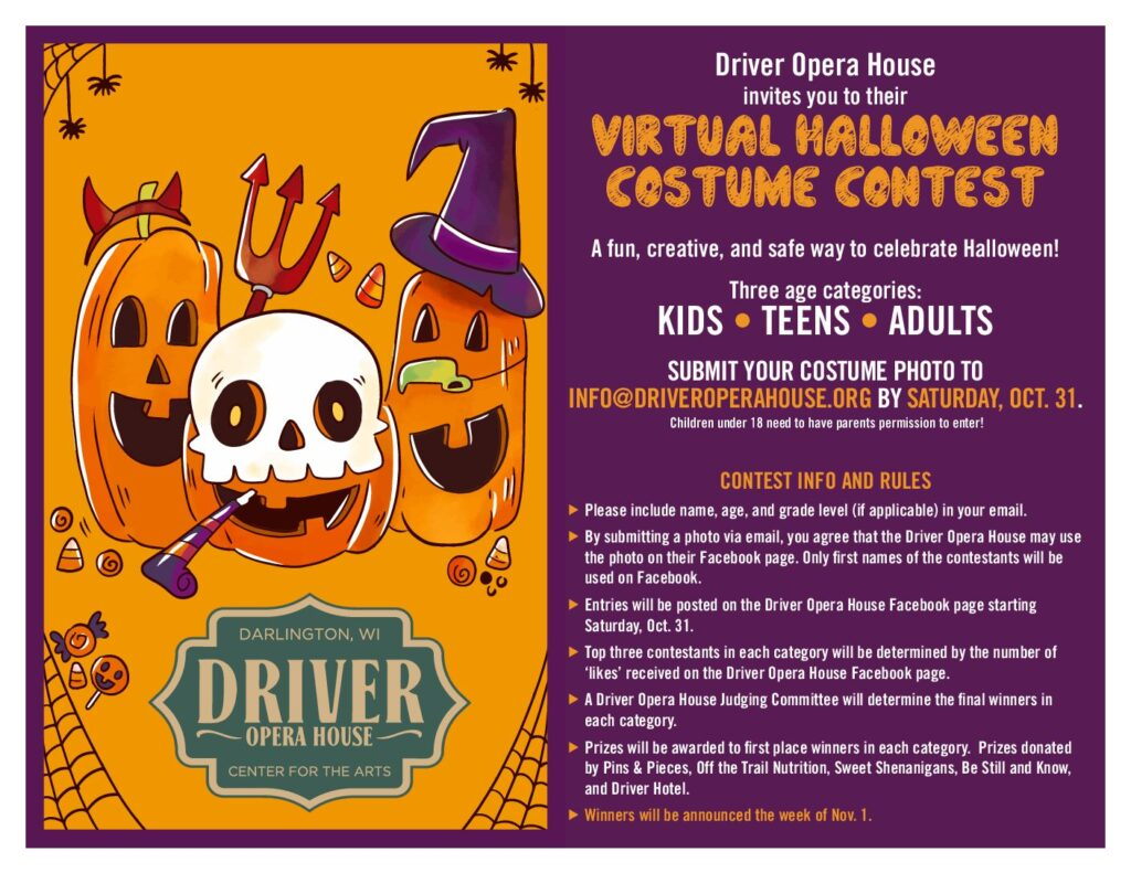 Virtual Halloween Costume Contest UPDATED Flyer