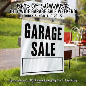 End of Summer Garage Sales